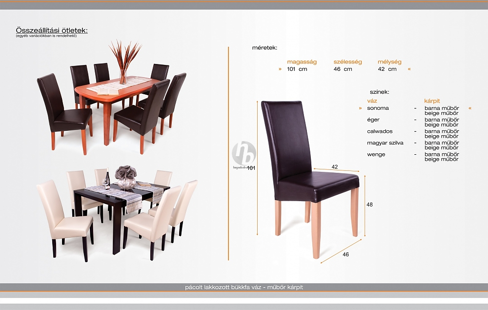 Berta szék - Étkezőszékek kategória